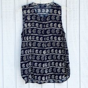 Madewell | Paisley Stripe Print Button Up Cami